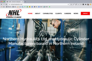 The new Northern Hydraulics website homepage
